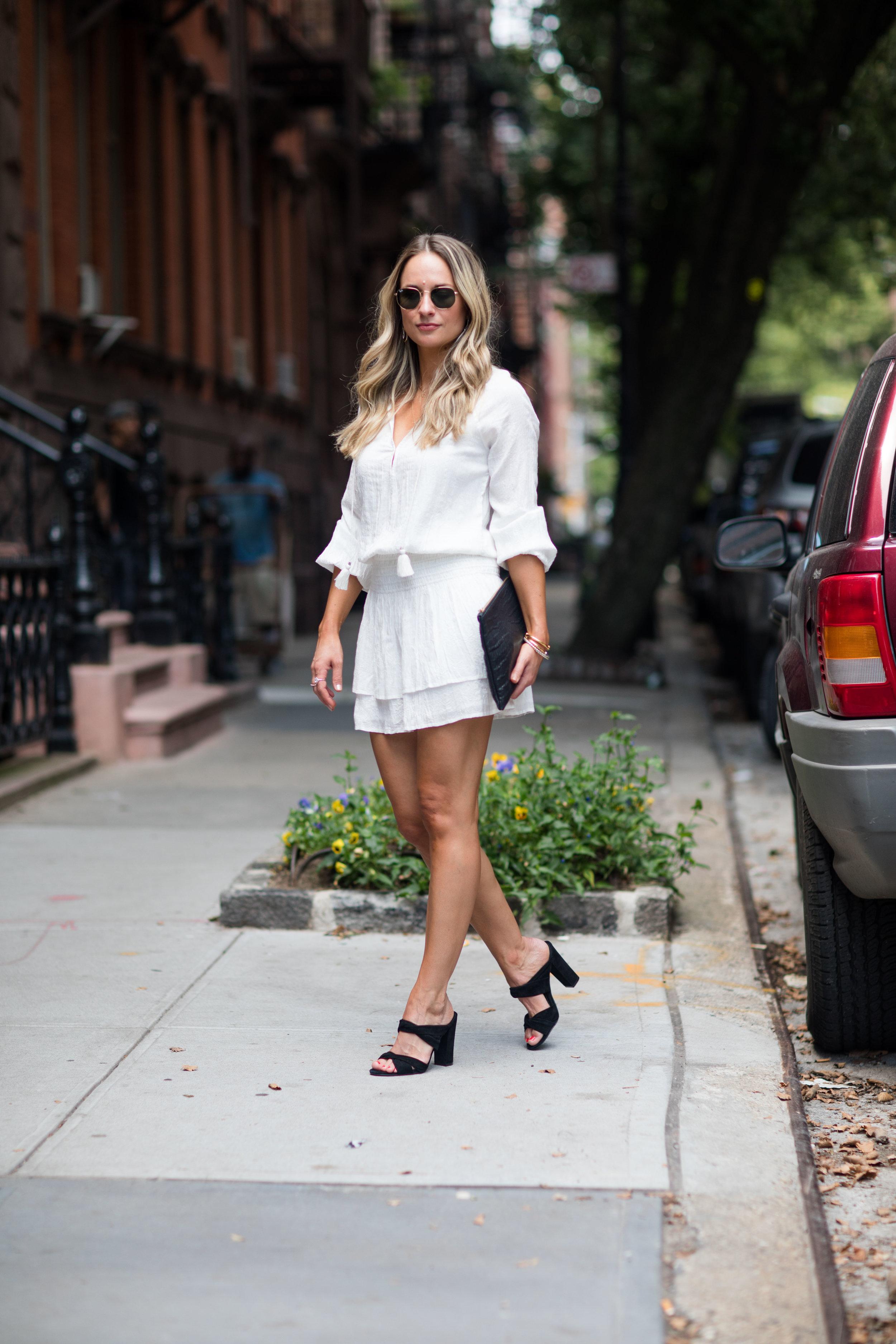 white gauze summer dress