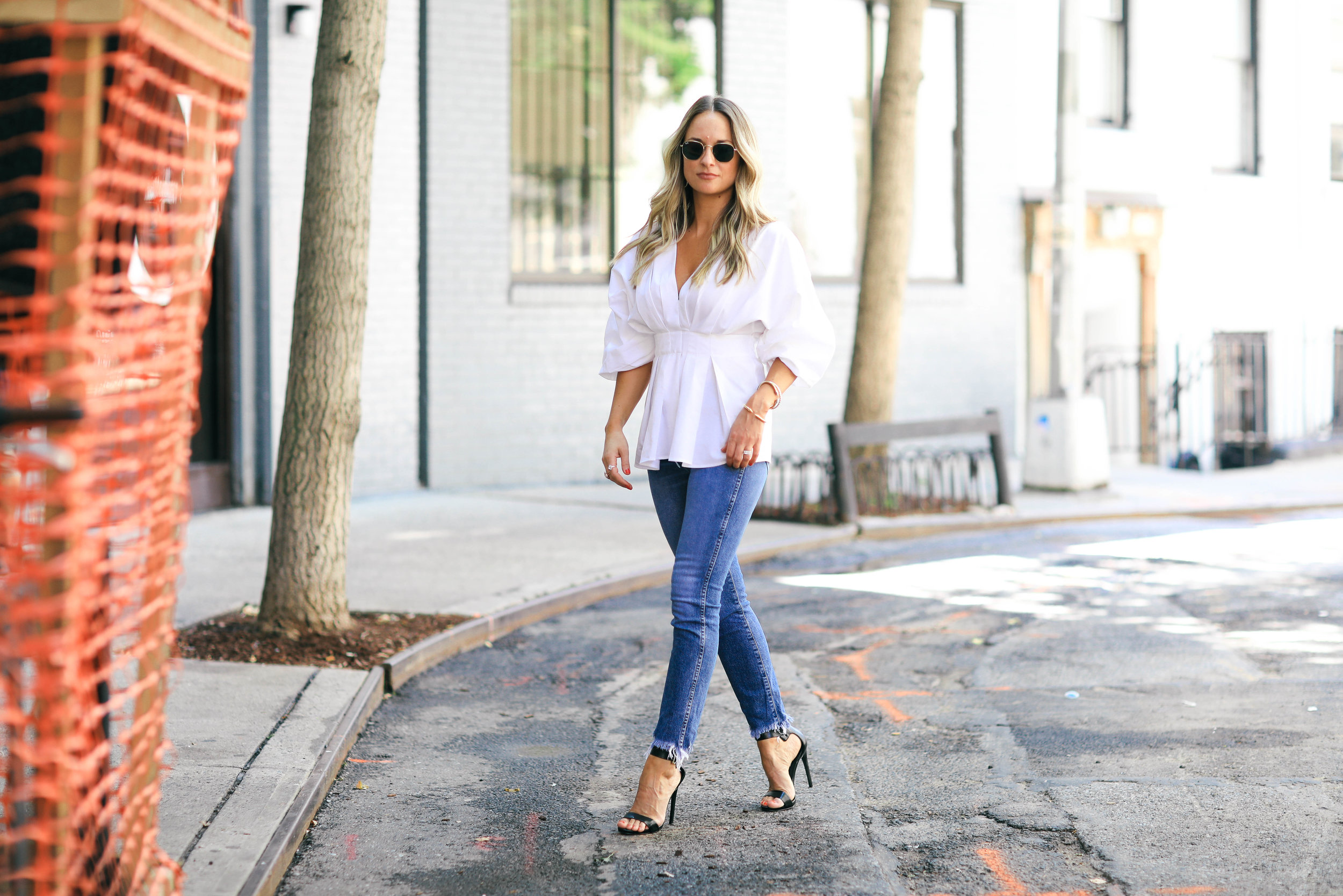 statement sleeve blouse from h&M