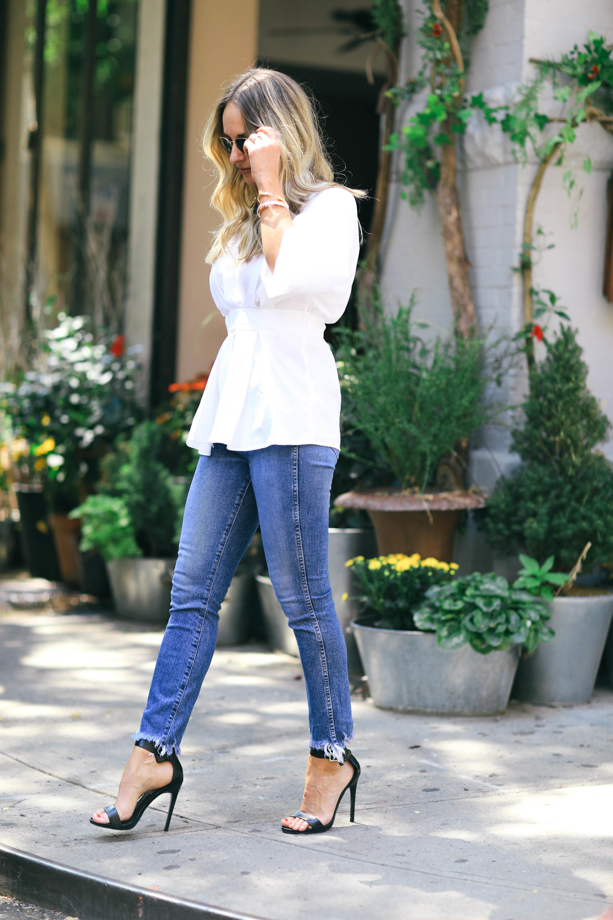 statement sleeve blouse