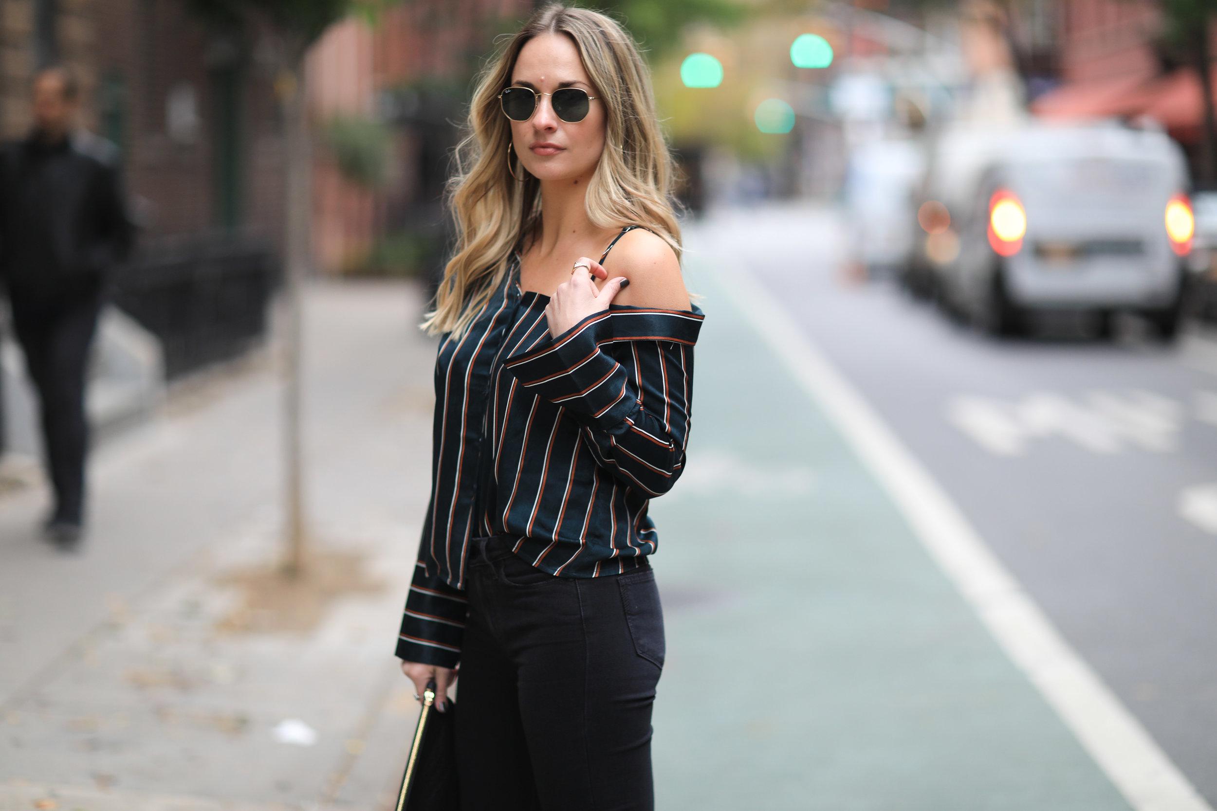 silk PJ blouse