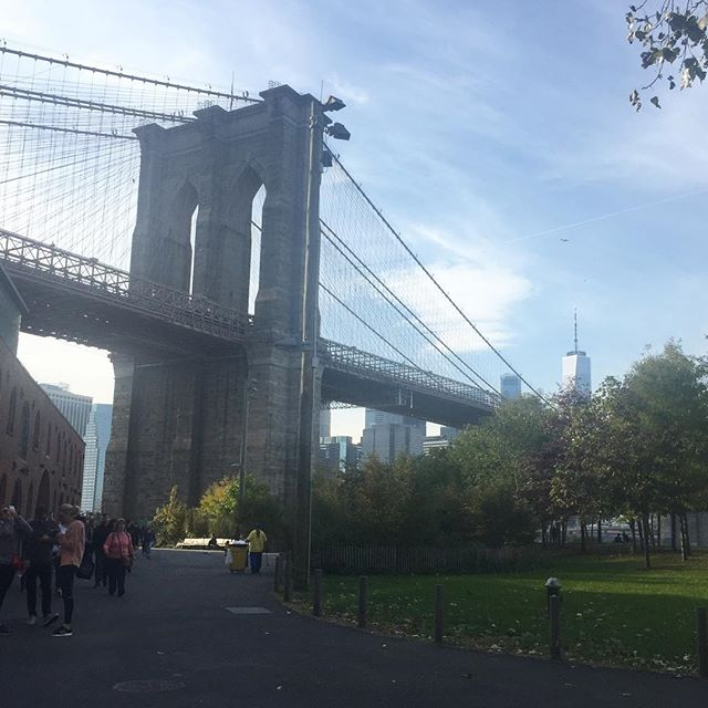 On the other side of the river today in DUMBO, BK . The perfect fall day! #brooklyn #dumbo #nyc