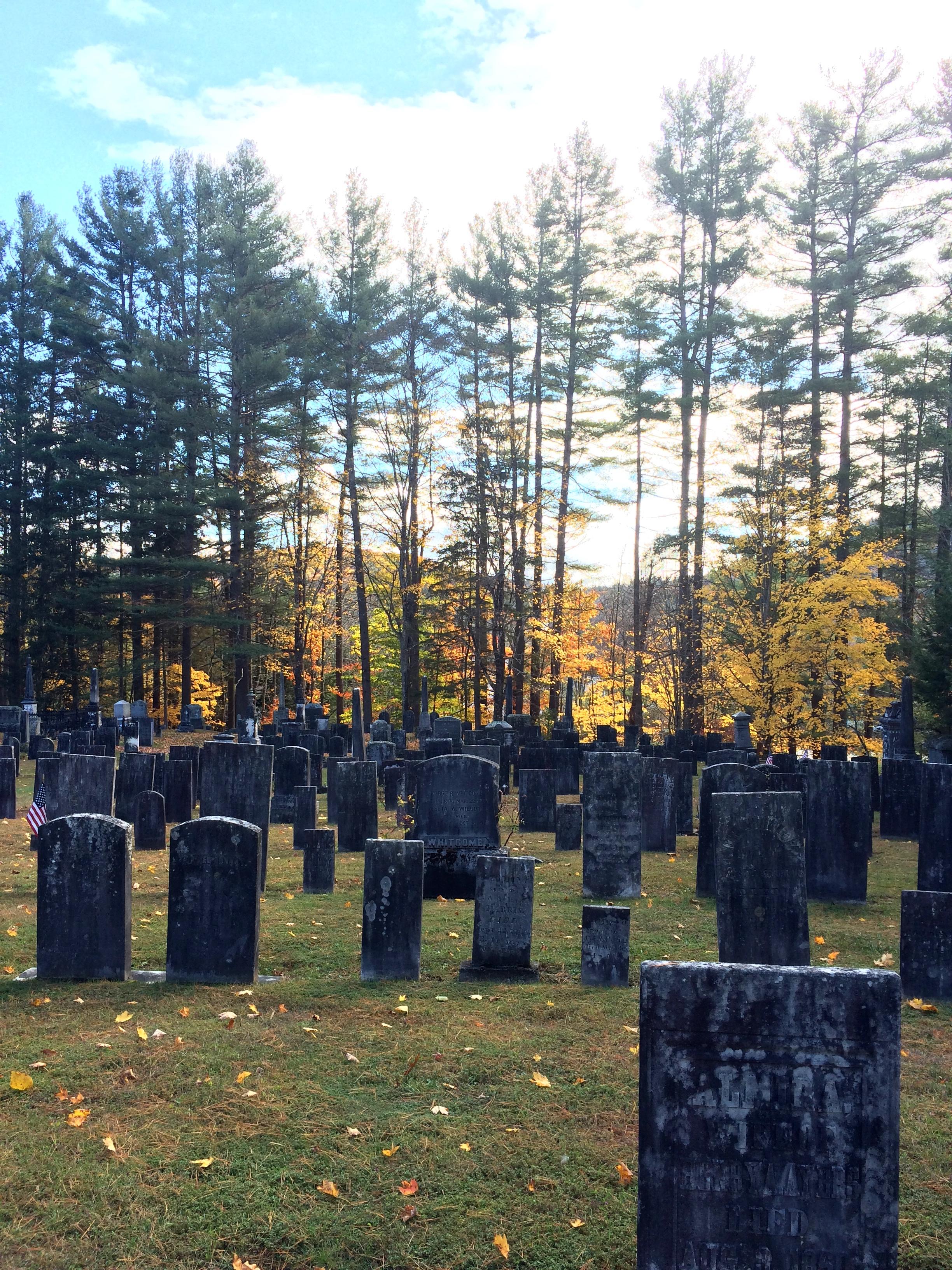 The graveyard in Grafton, Vermont