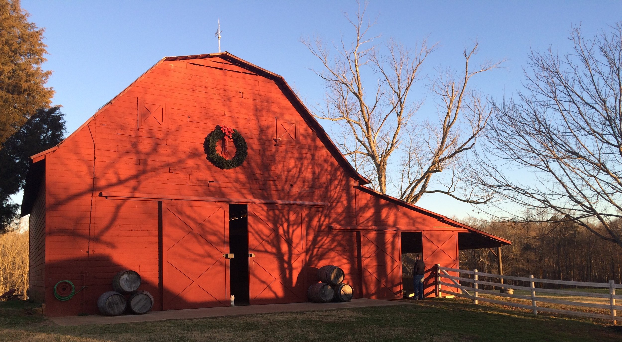 One of the best examples of a mule barn in Cleveland & Gaston counties