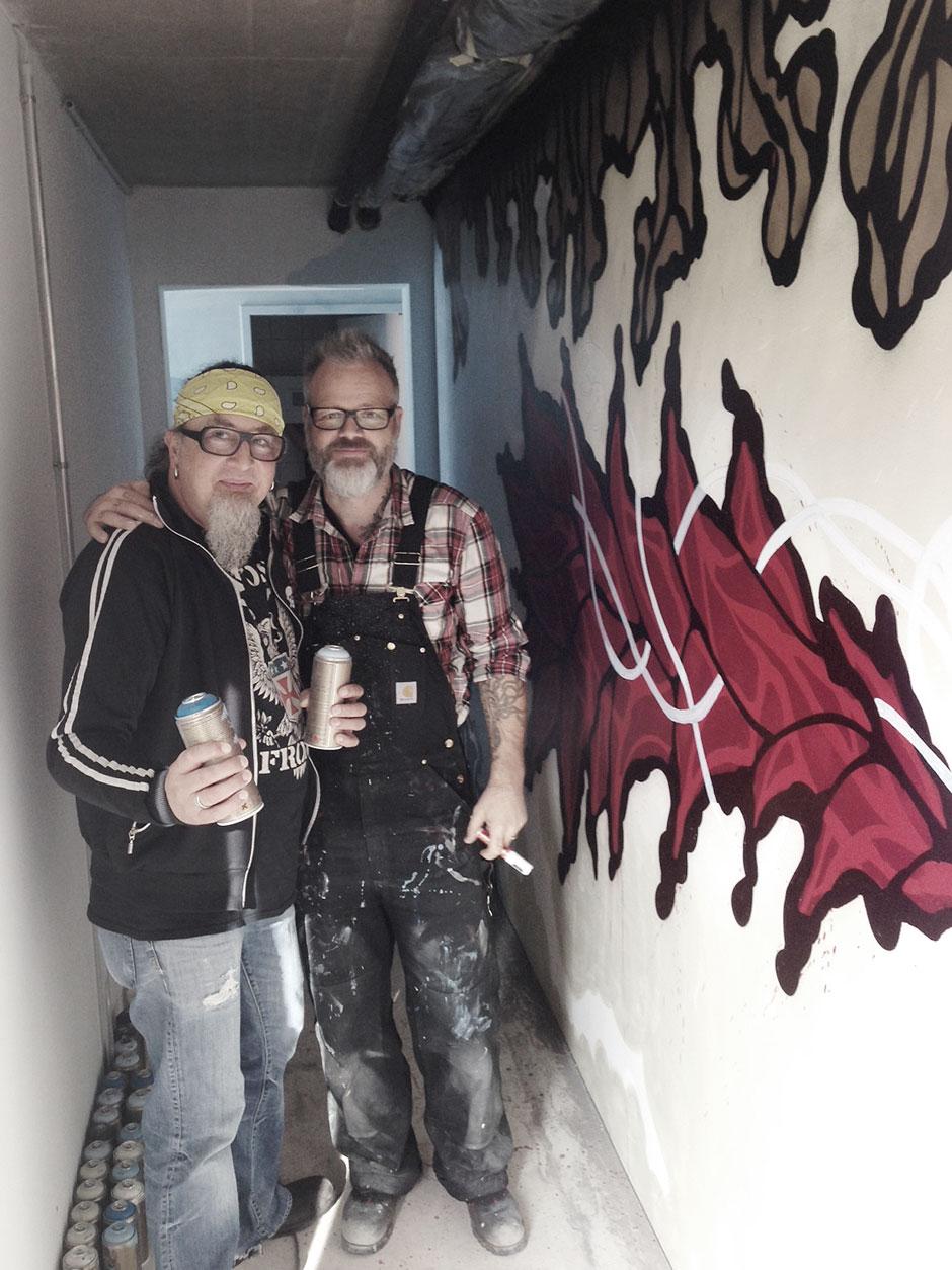Stefan Marquard and me on location.   © Hase + Igel / Christoph Wehner