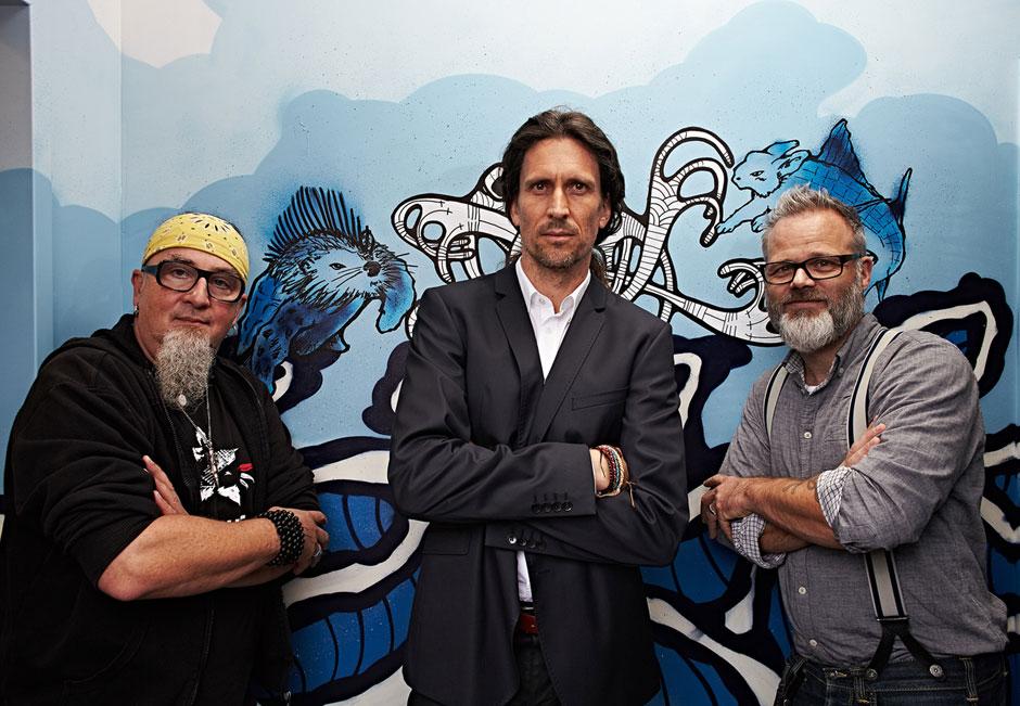 Stefan Marquard, Thomas Brückle (Geberit), and me. Photo & © by Boris Zorn