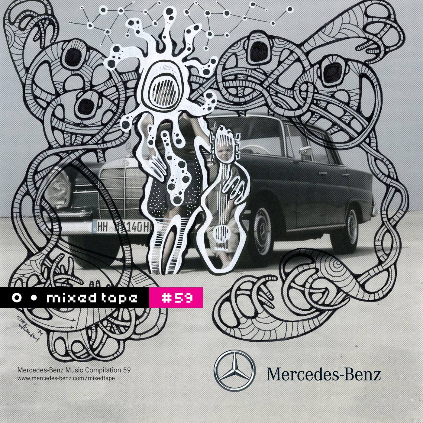 My cover artwork for the Mercedes Mixed Tape #59, released November 7, 2014. © Artwork & Photography by Alex Diamond