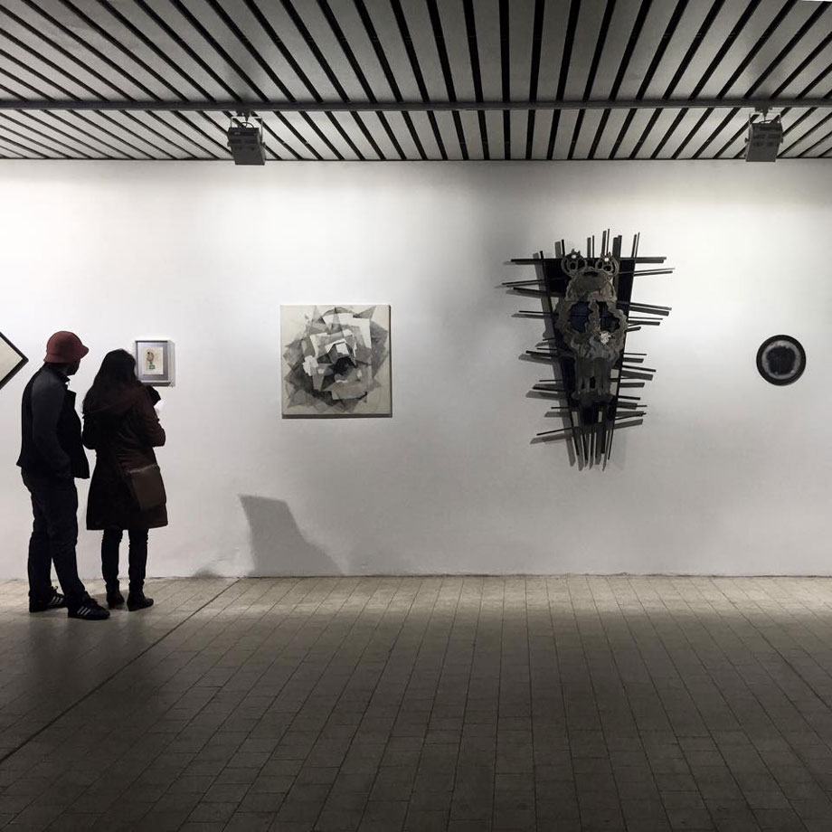 "Exhibition view from the group show ""Das eigene Ich"" at the new location of the Affenfaust Galerie, Hamburg."