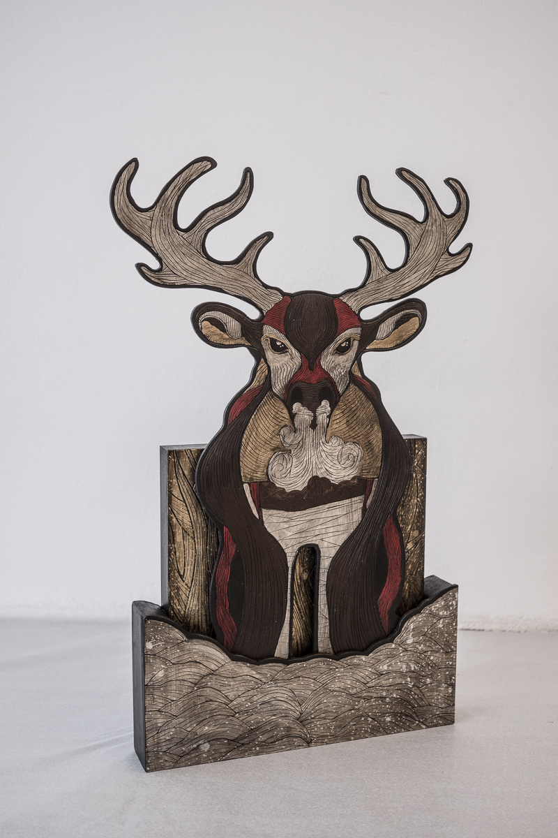 Alex Diamond: The Darwinist (2016) View of the artwork standing.