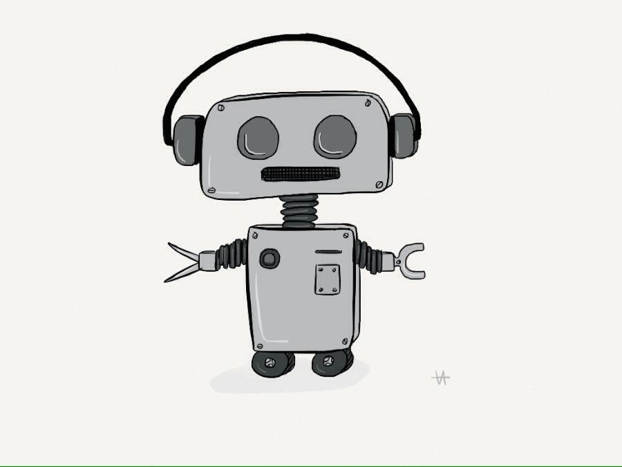 The original 'bot-bot' drawing