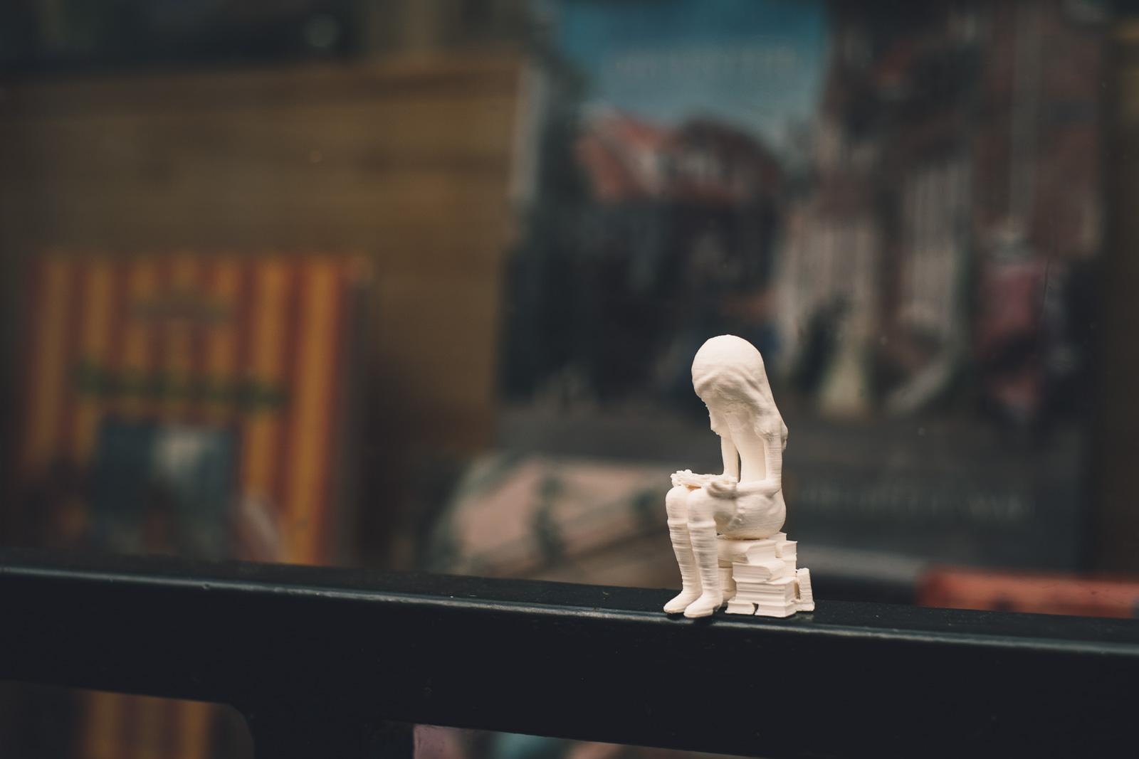 Bookstore girl 3D print