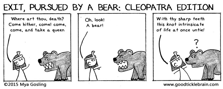 Exit, Pursued by a Bear: Cleopatra Edition shakespeare news The Shakespeare Standard theshakespearestandard.com shakespeare plays list play shakespeare