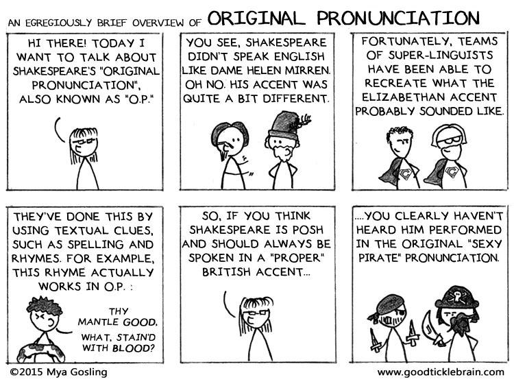 An Egregiously Brief Overview Of Original Pronunciation Good