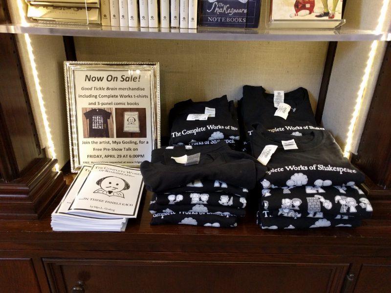 Top-quality merchandise in the Folger gift shop...  *ahem*