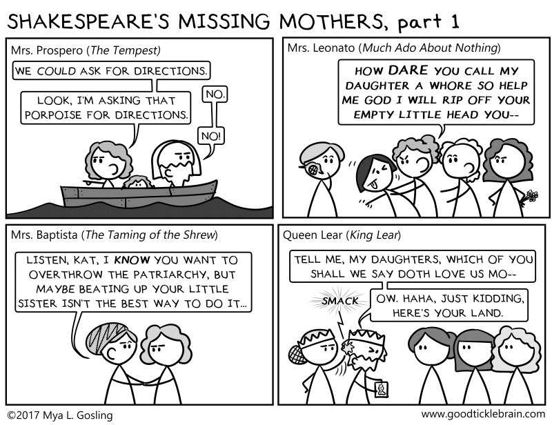 Shakespeare's Missing Mothers, part 1 — Good Tickle Brain