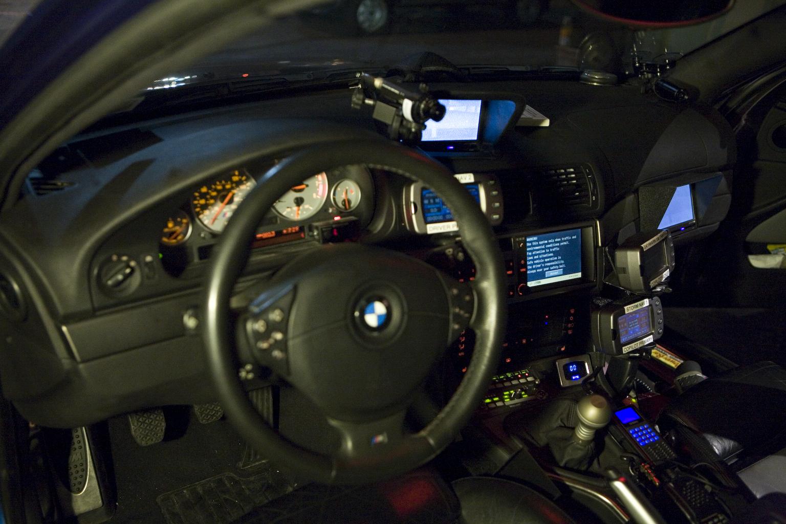 The interior of Alex Roy's M5