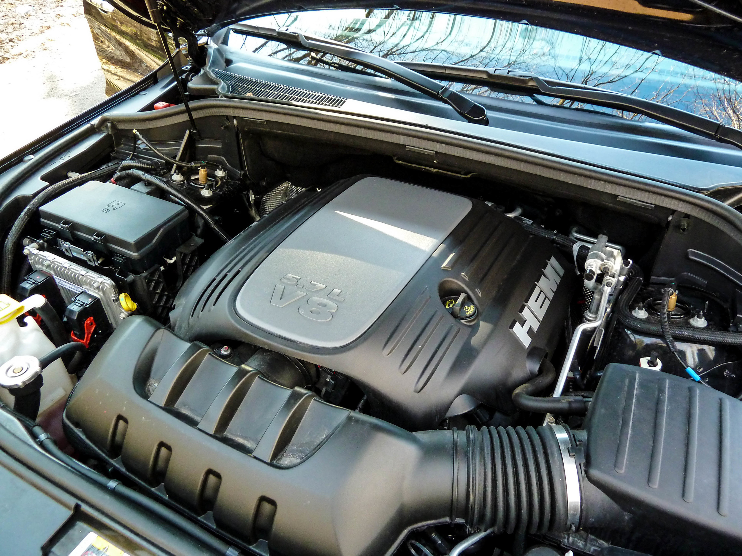 The optional 5.7 Liter Hemi V8 - Equipped with an 8-Speed automatic gearbox