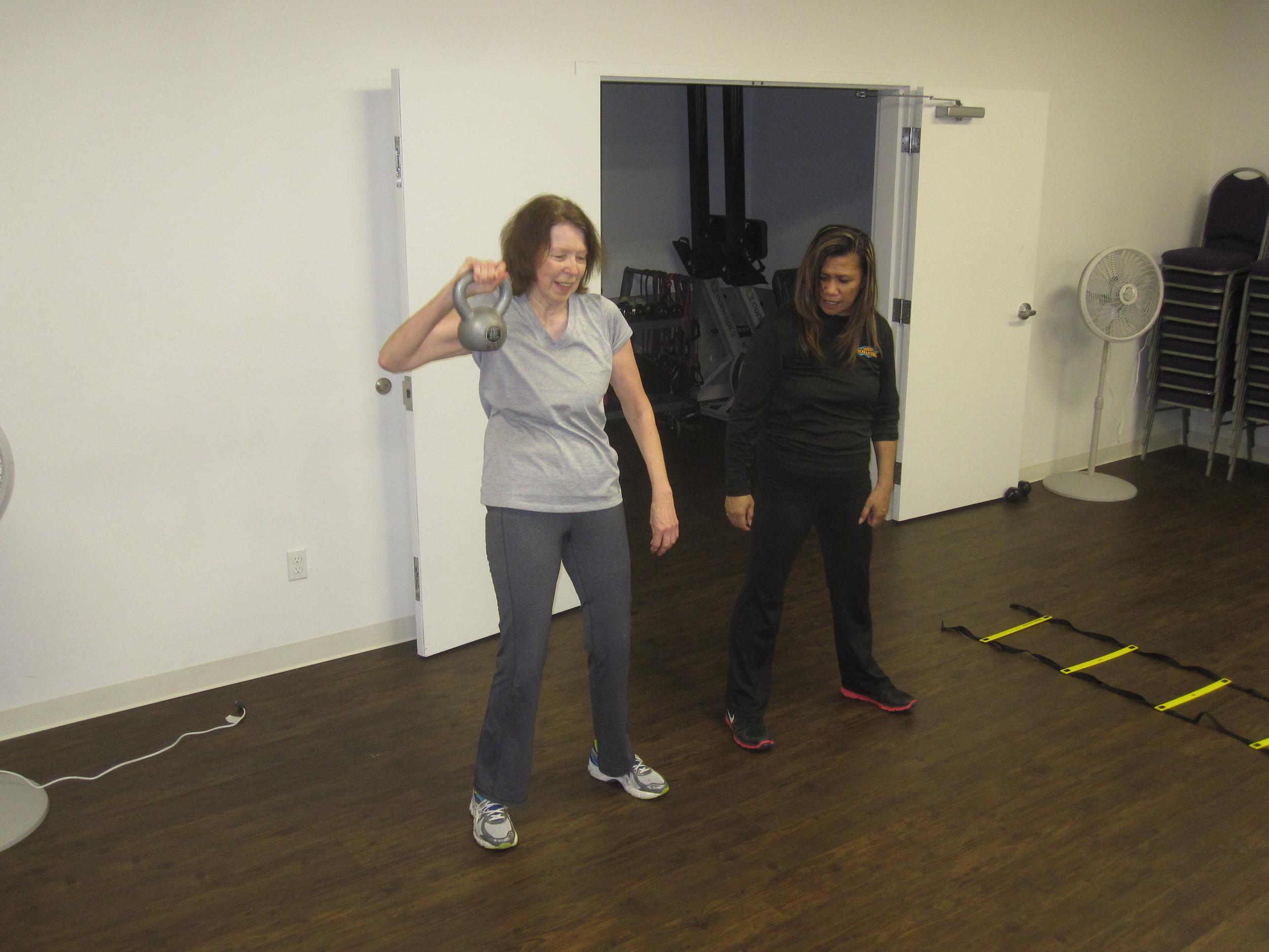Becca training Dori
