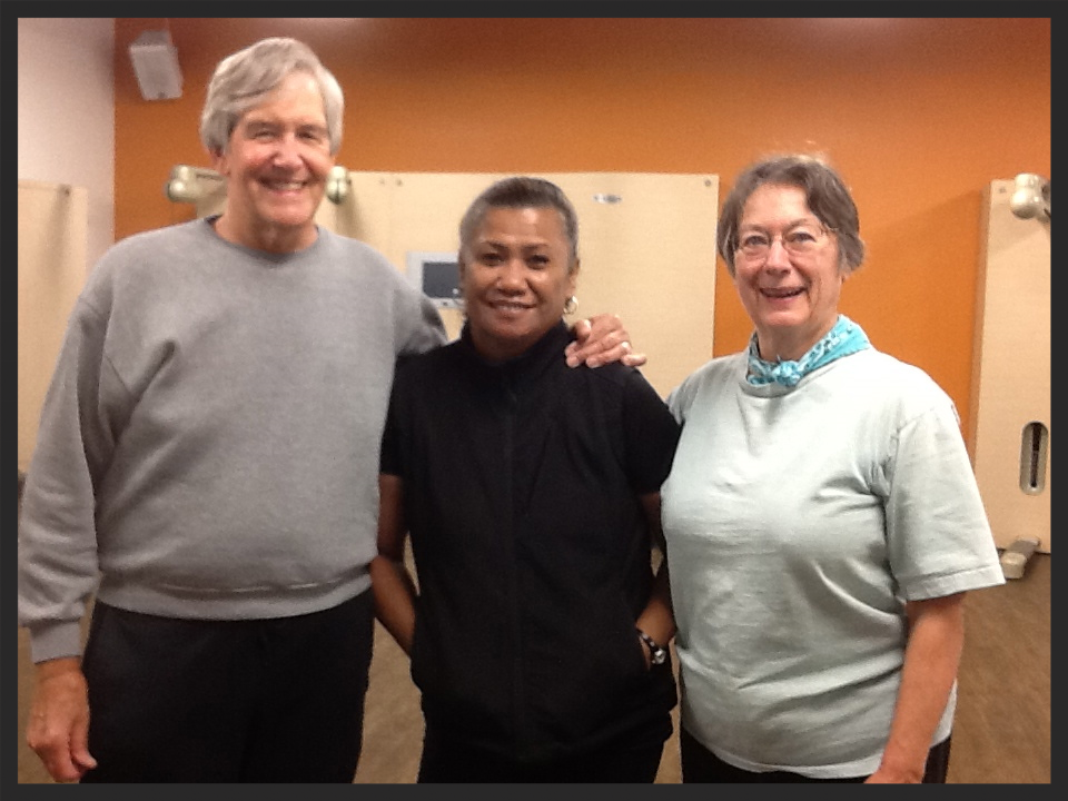 Bob and Mary with their trainer Becca