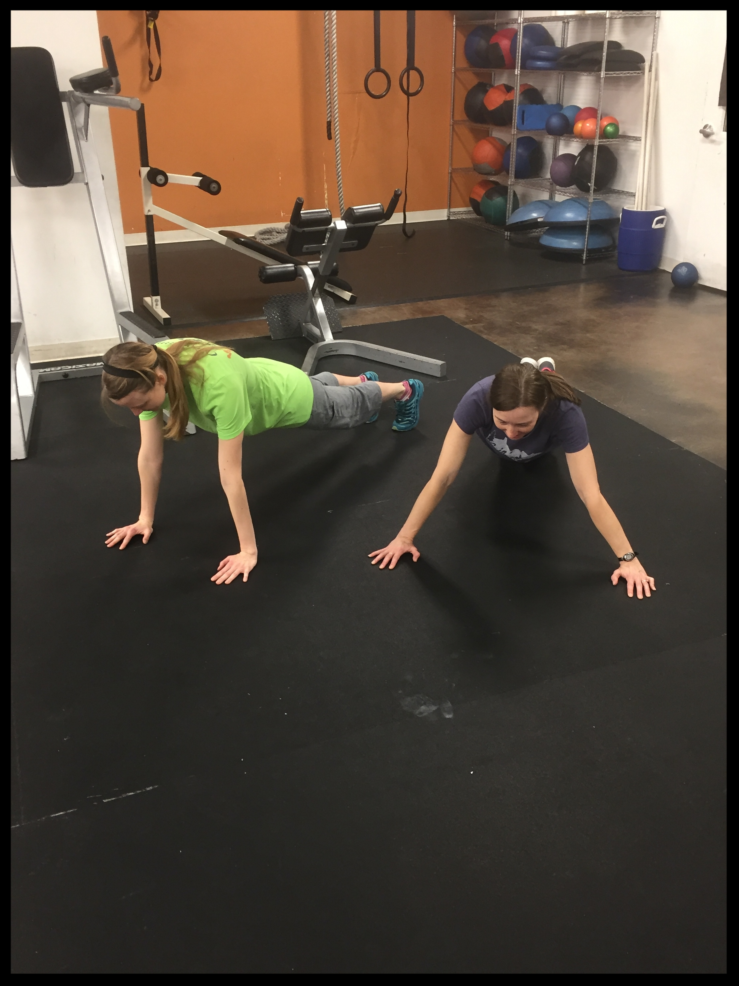 Work out with Challenge teammate Debbie