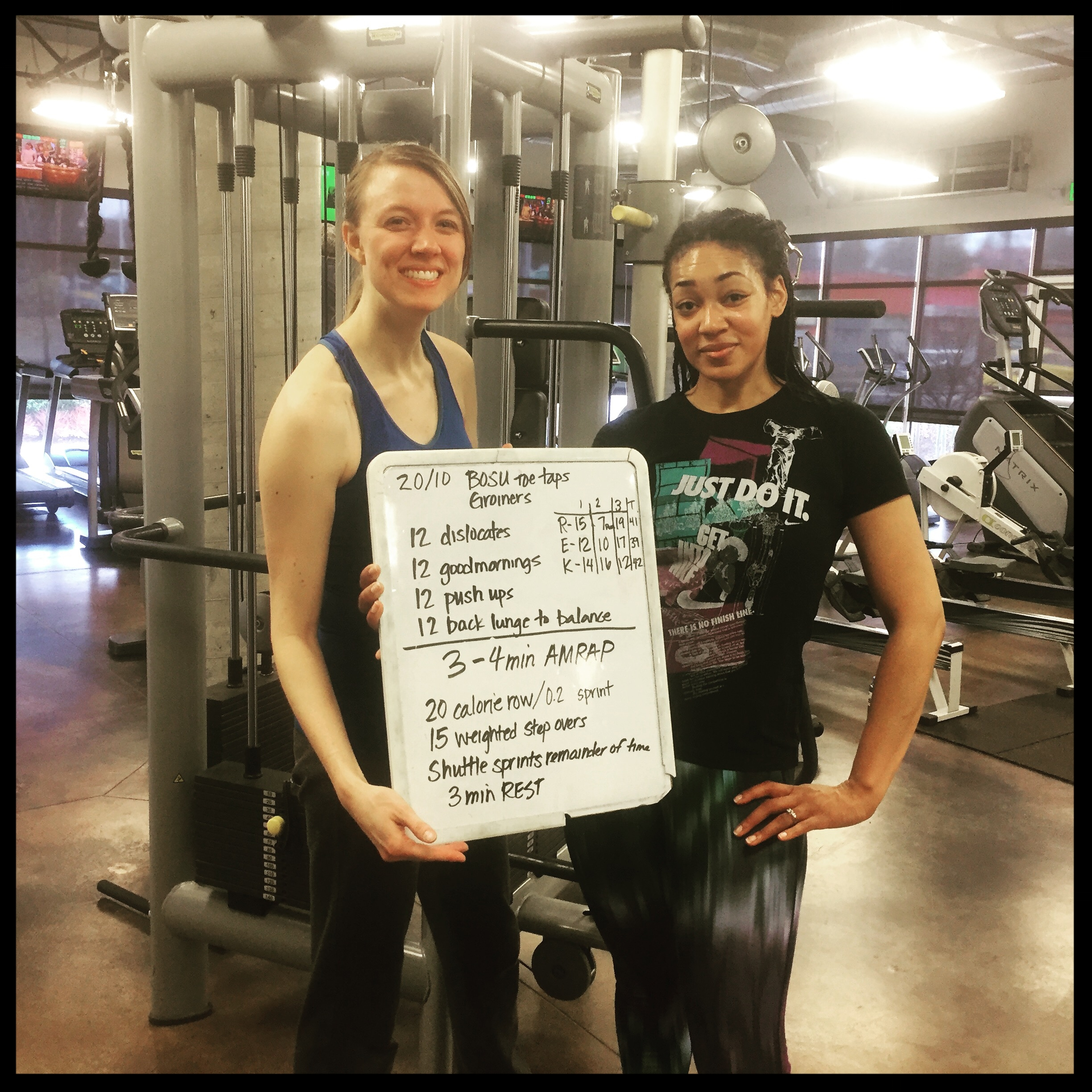 Post-Group Training session with office-mate and Challenge participant Rosa