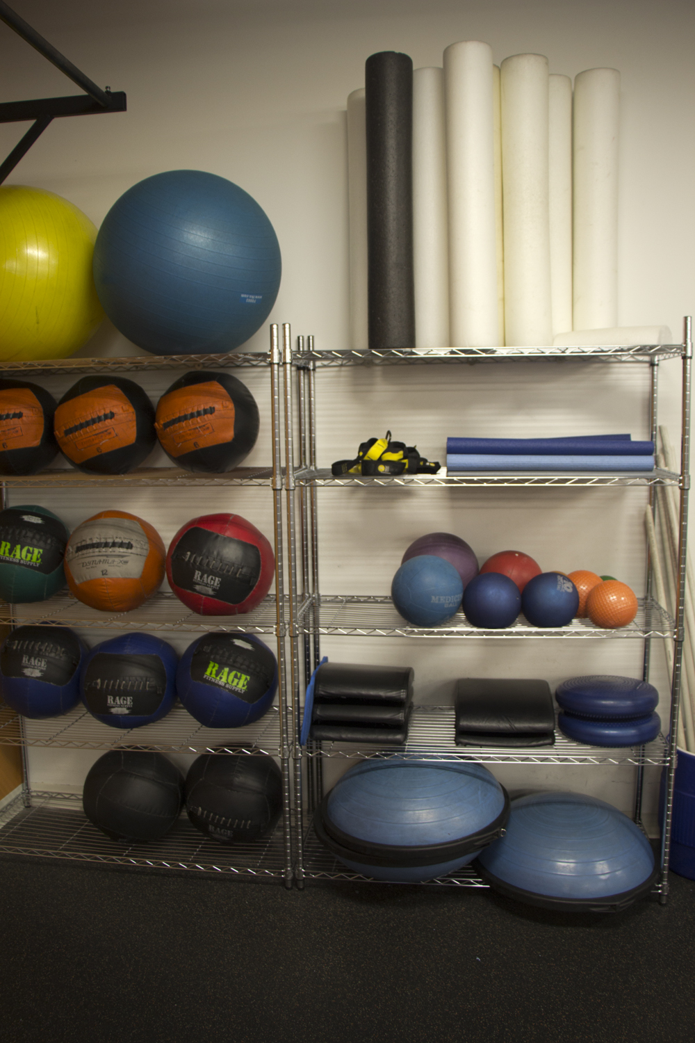 Medicine Balls & More - Grab a medicine ball, ab mat or boccu ball for your own workout. Then relax stiff muscles with a foam roller.