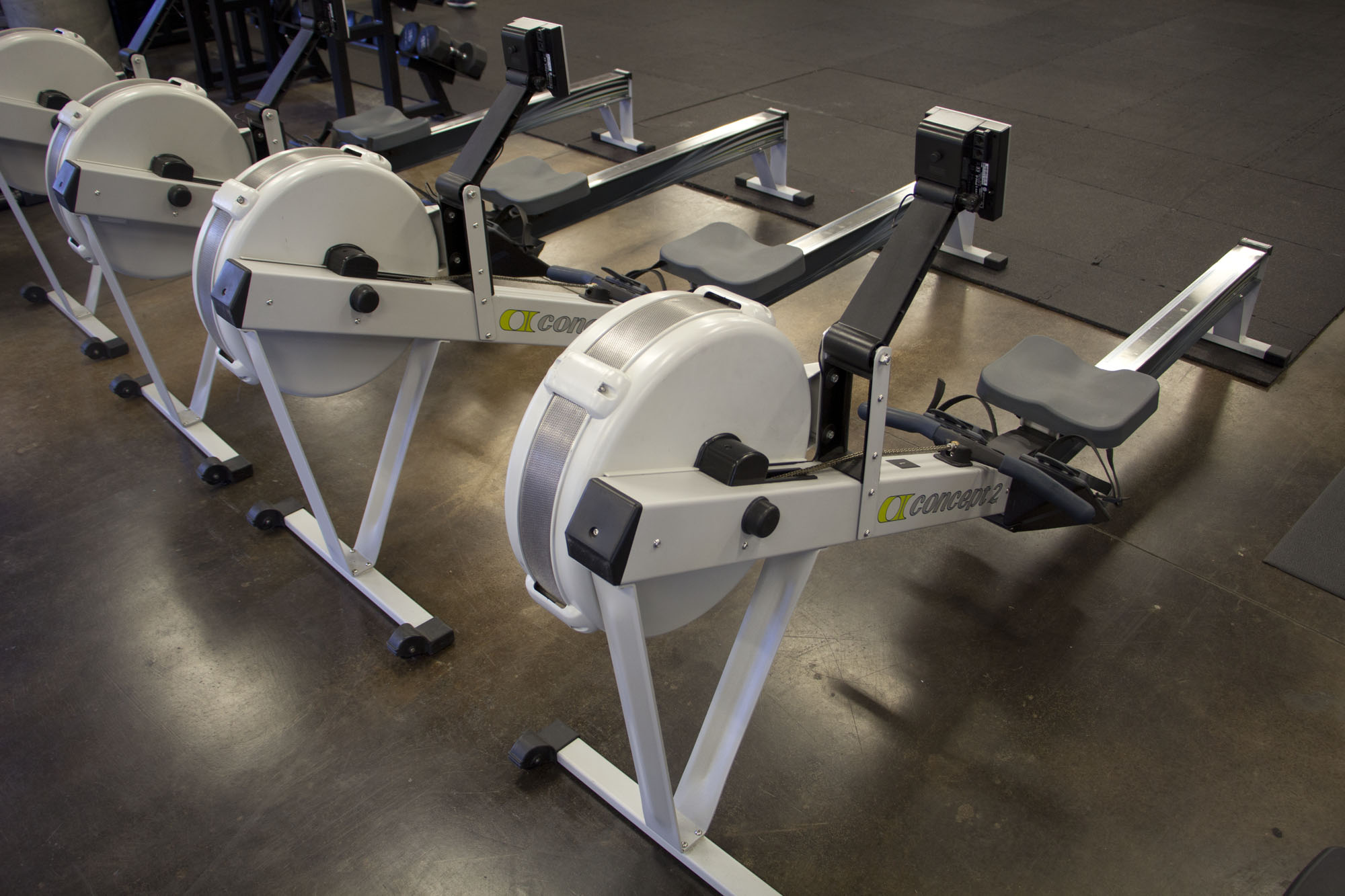 Rowing Machines - Tired of the treadmill? Get your cardio in on a rowing machine, while building muscle at the same time.
