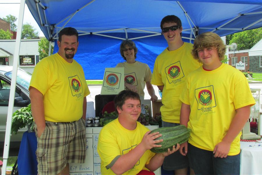 TTC at SHC YAP crew 2014 at the Lakes Region Farmers'Market