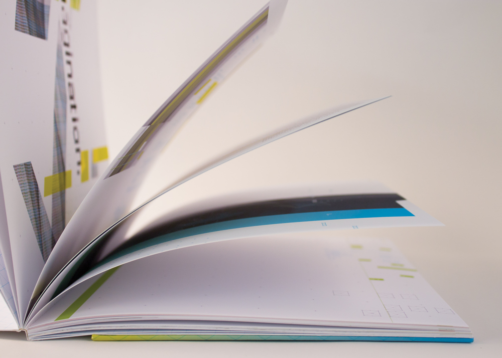 Inside pages with vivid colors