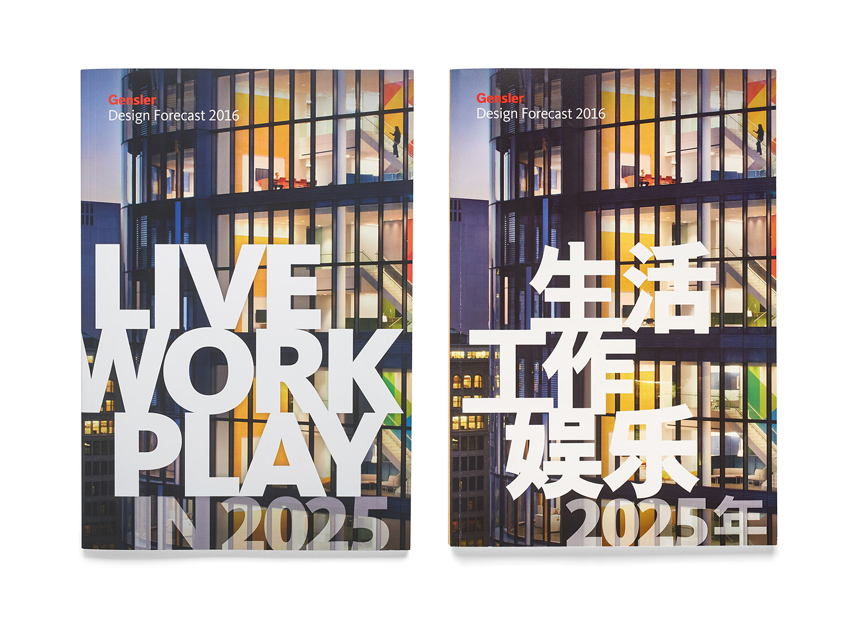 Design Forecast 2016 English cover and Mandarin cover.