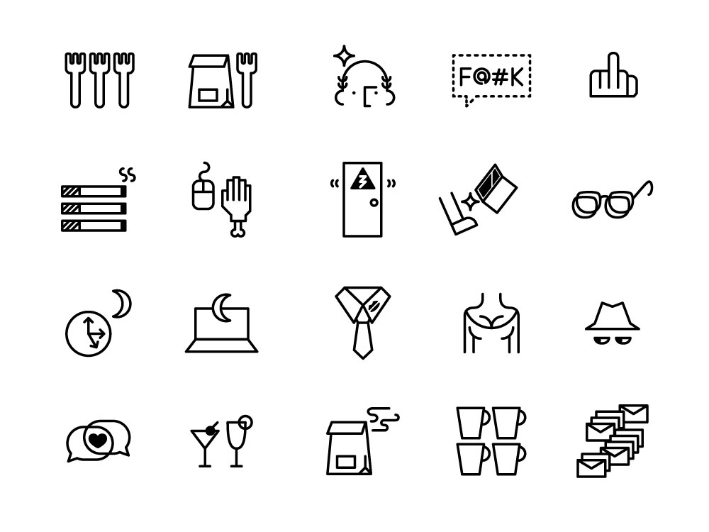 Inappropriate workplace icons