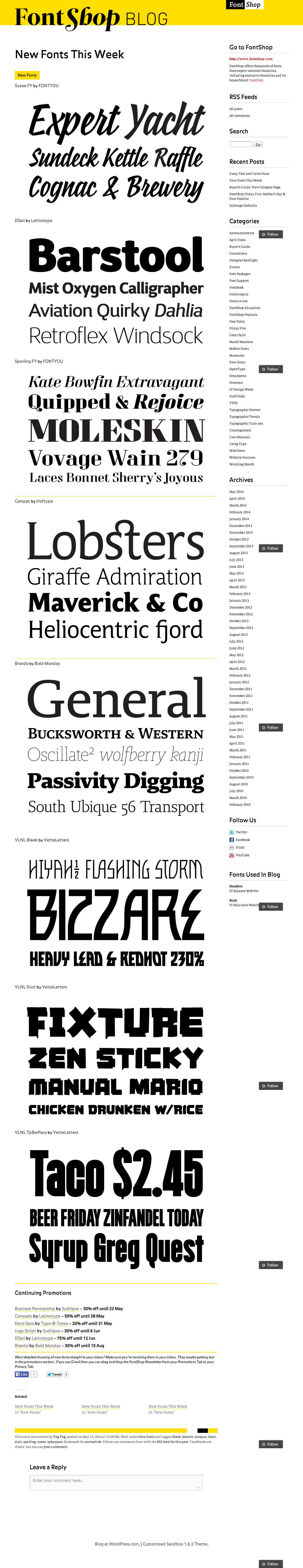 FontShop typeset