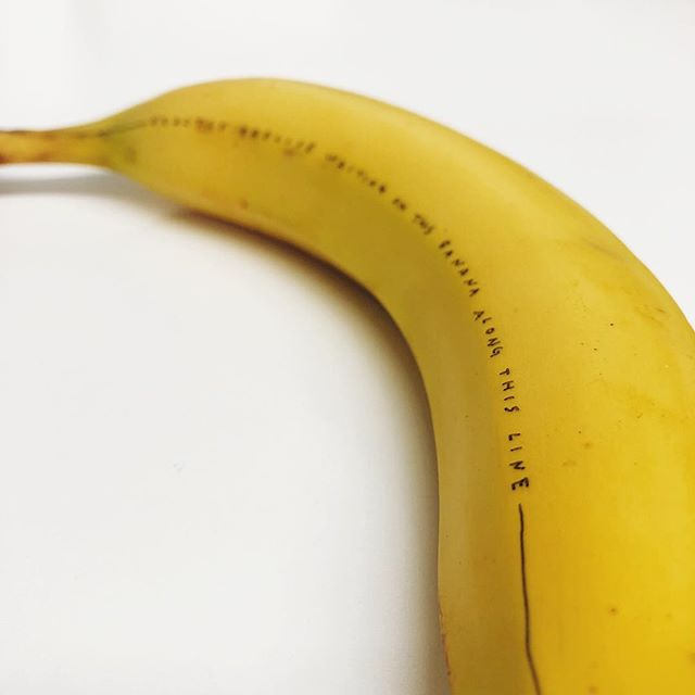 Does this count as playing with my food? 😆🍌 #potassium #yy✒️ #officelighting