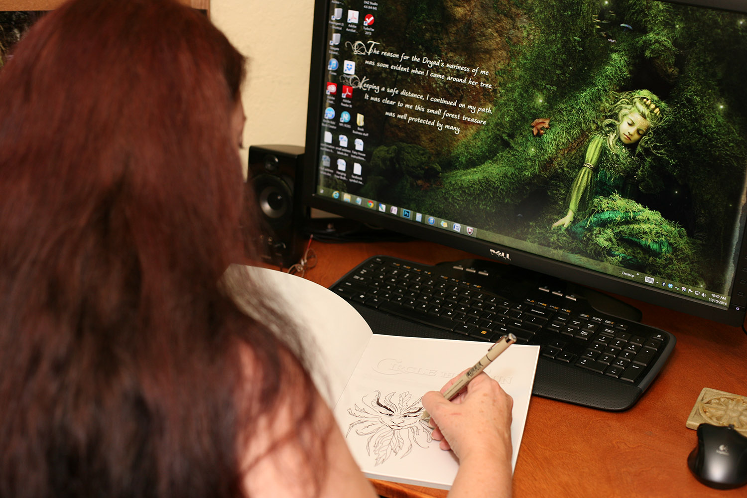 Don't forget...for a limited time Susan will not only sign books orders but also include a hand drawn sketch, too!