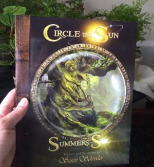 Lisa Sierras with her Circle the Sun Book!