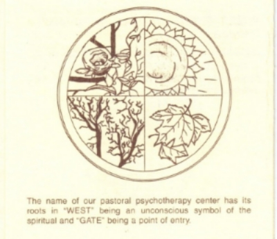 Historical West Gate logo depicting the change in seasons.
