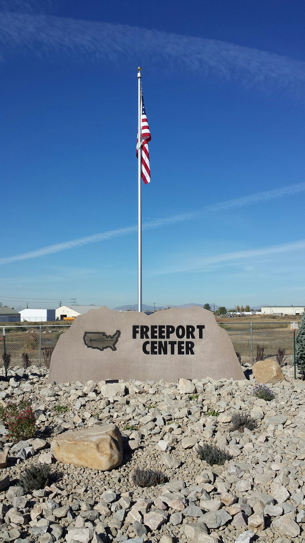 Bronze Lettering for Freeport Center