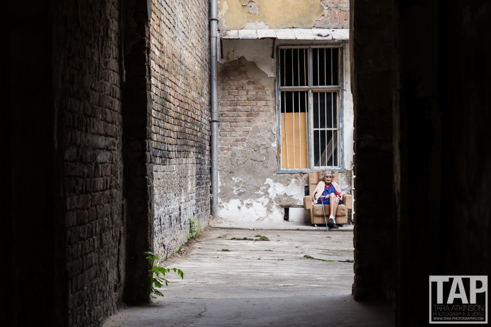 With homeless figures among the worst in Europe, Budapest is a city of contrast. An old lady sits in the doorway of a derelict but historic building; most likely where she lives. In Budapest the homeless are mainly elderly but proud; making the most out of what they have.