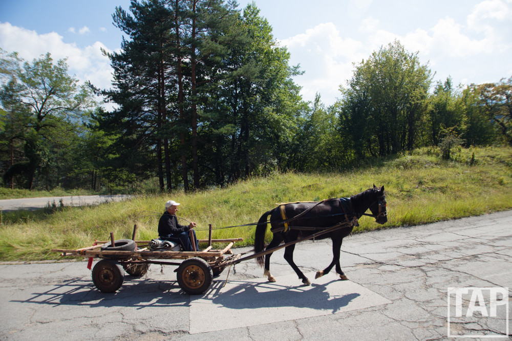 "Like many eastern European countries, Bulgaria still has a ""horse-and-cart economy"". Such a common sight driving up to the sport climbing crags."
