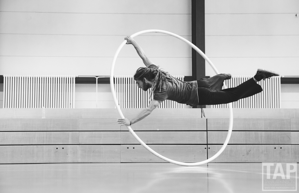 Pictured is Christian Krr practising on the Cyr wheel in Berlin. He is also a world class highliner, windsurfer and climber. Its great to meet inspiring people on the road.