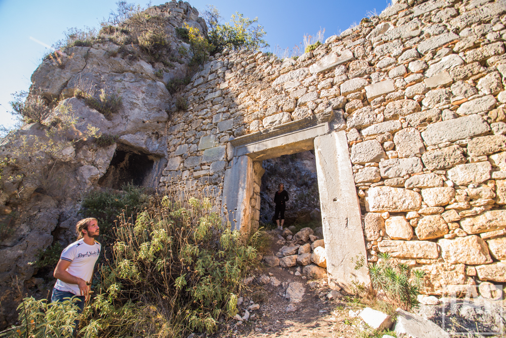 The old ruins of the ancient Trebanna city; 45 mins walk from the base camp. Nothing has been excavated yet and with sites like these all over Antalya and southern Turkey you really can immerse yourself in history of the area.