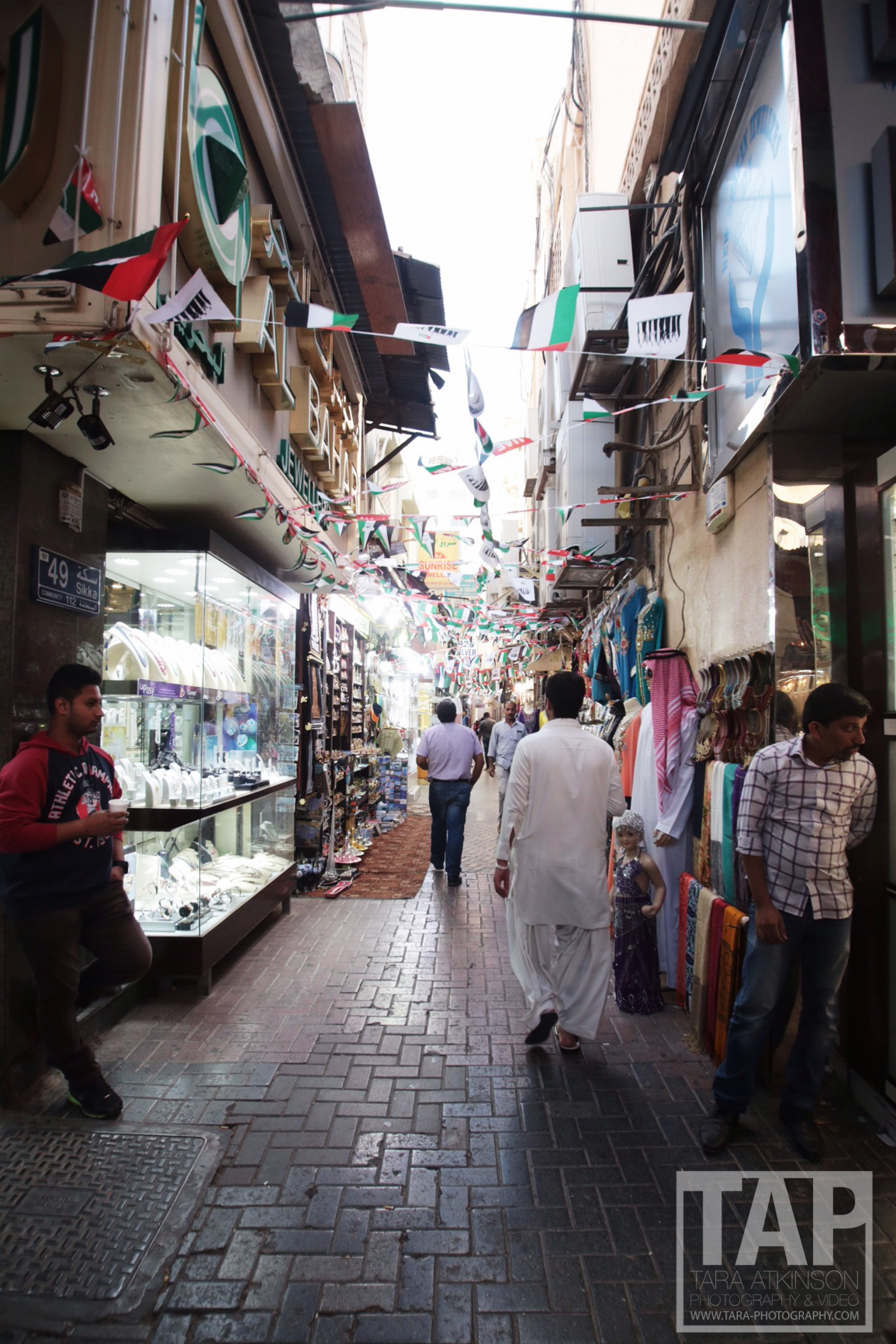 Heading back to the Deira side of the creek where you can find gold and spices