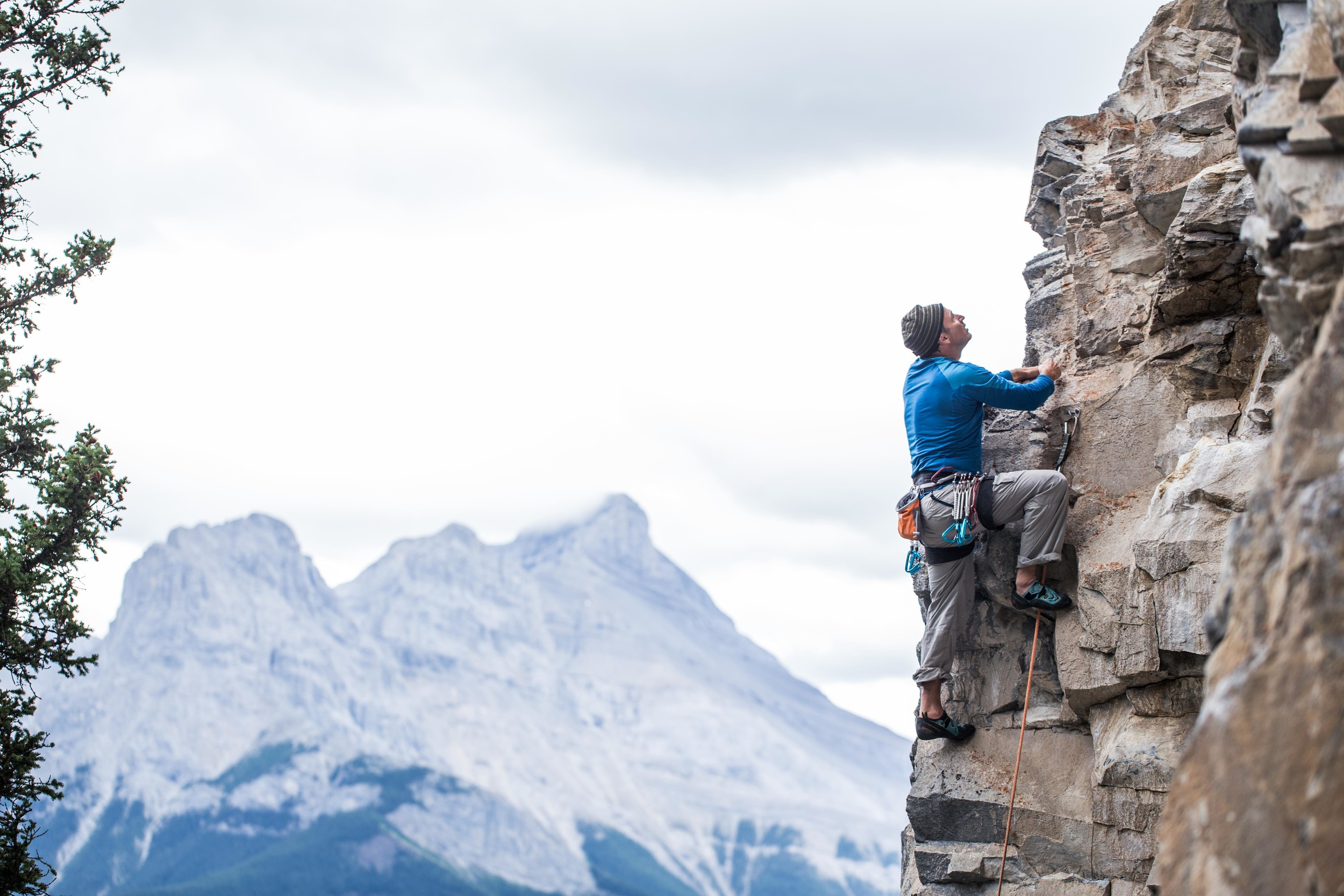 """One of the many crags we visited in the bow valley; the memorable """"look out"""". An epic approach followed by some great climbing."""