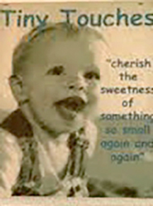 One of my first ad banners/posters. This was my little guy when he was about a year old. He was 15 months when I started my business.