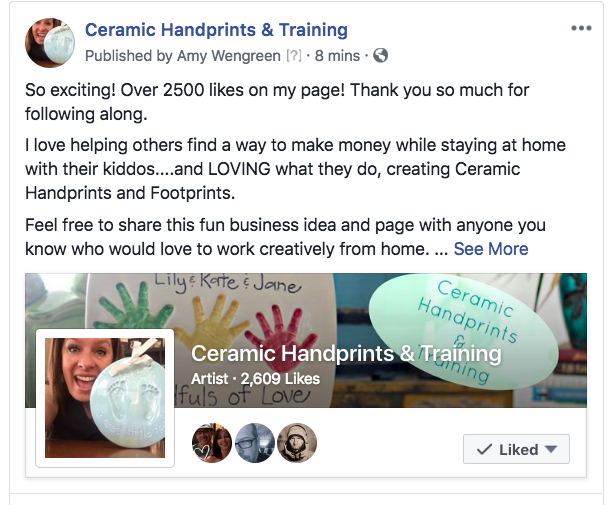 Ceramic Handprint Home Business