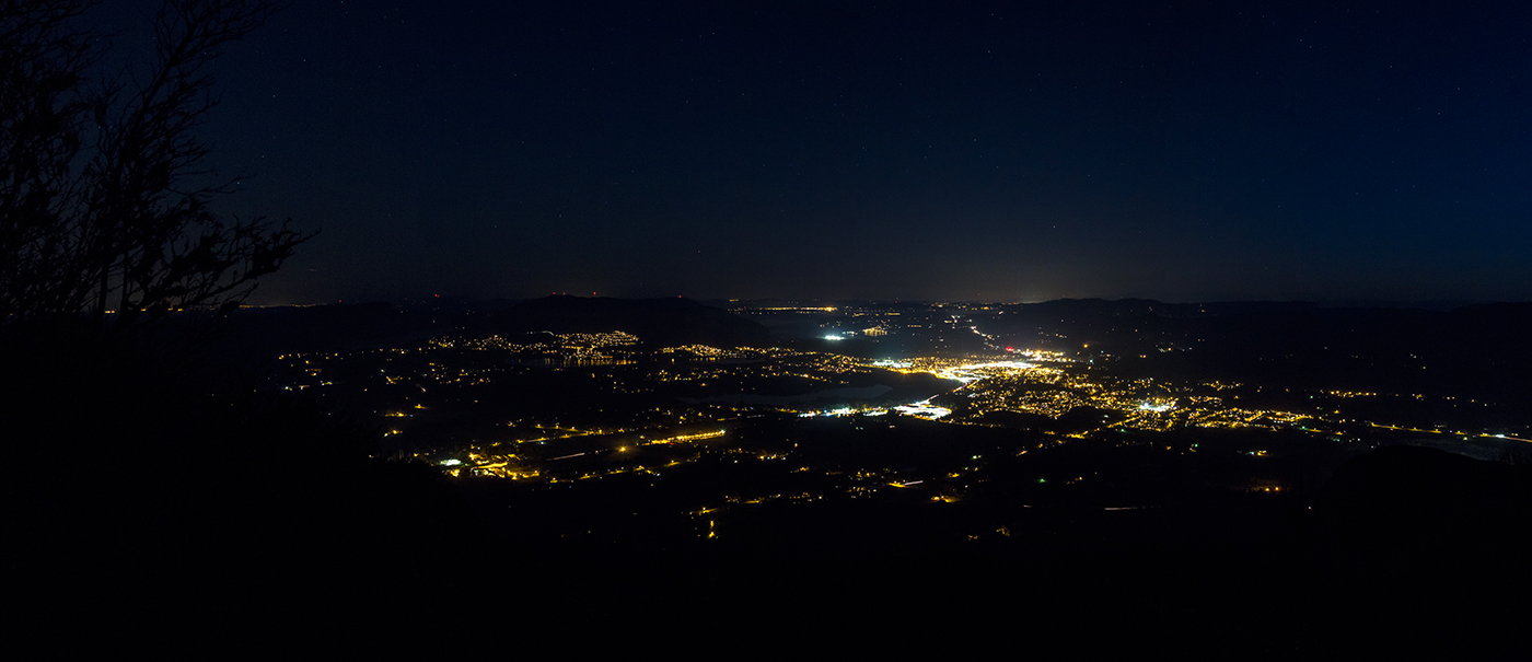 The Cowichan Valley at night