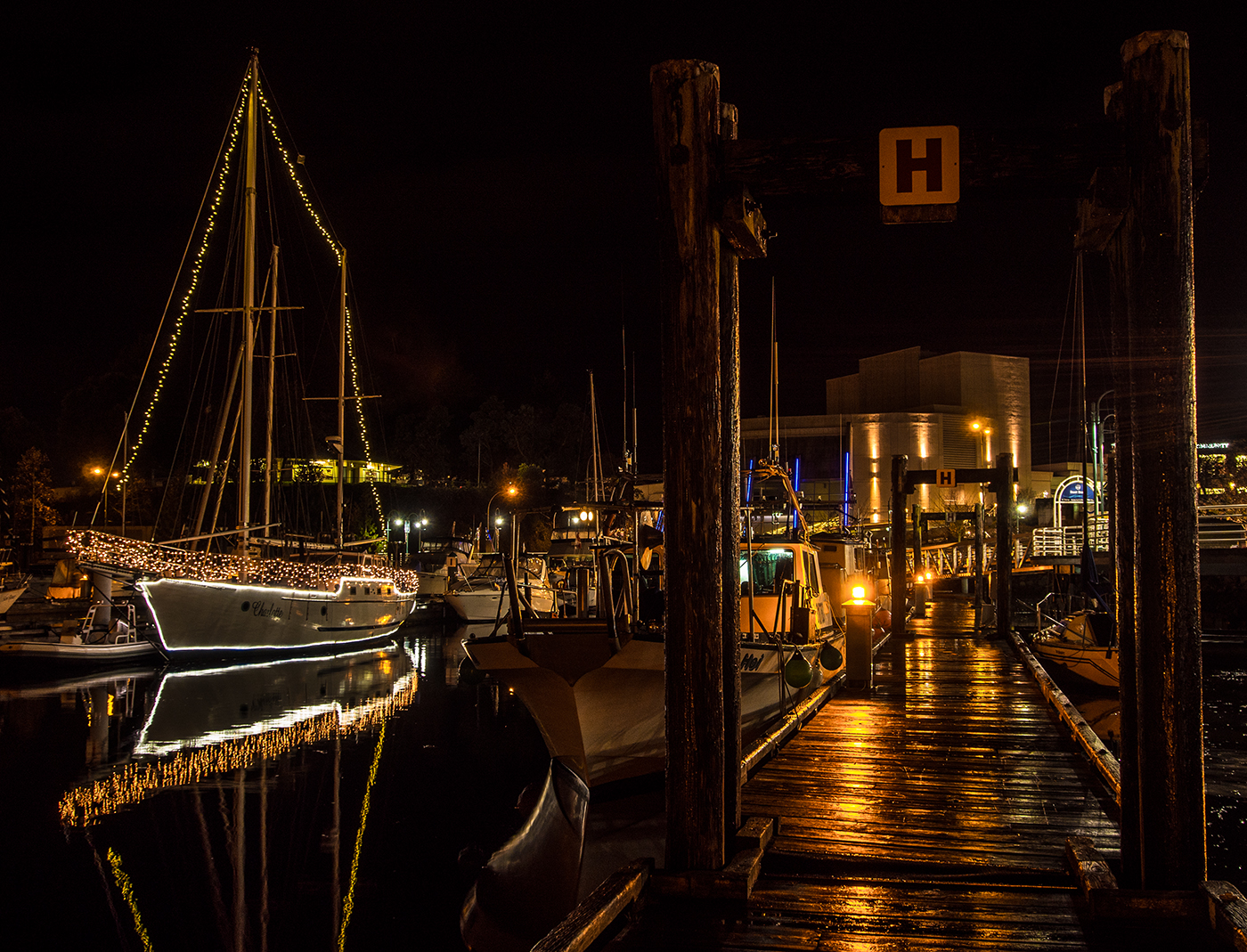 Its getting close to Christmas at the Nanaimo Commercial Boat Basin