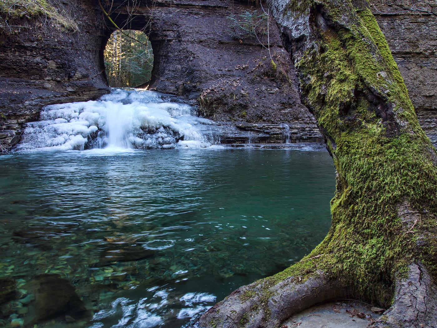 "Port Alberni's ""Hole In The Wall"" waterfalls"