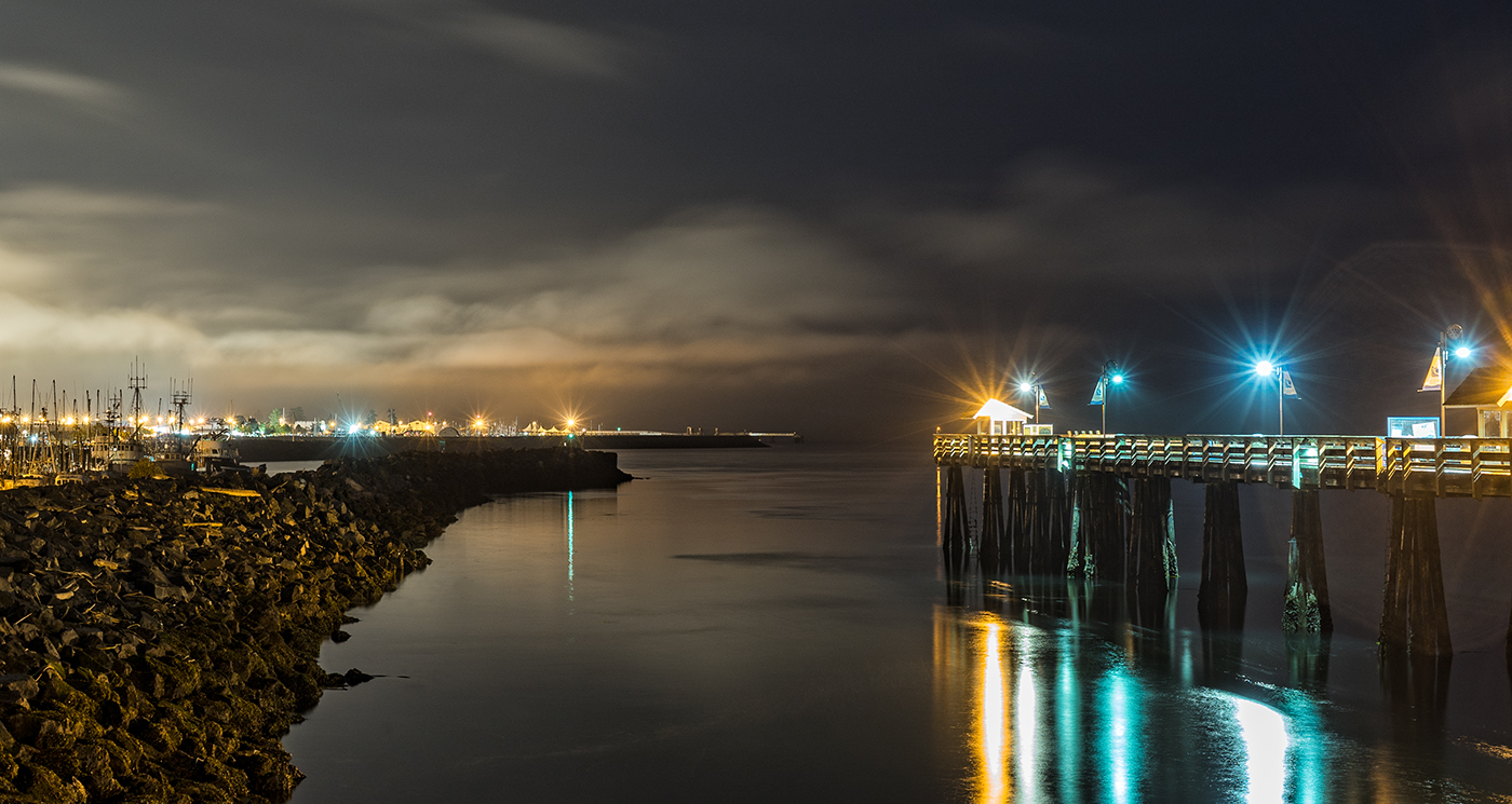 Our day of photography starts in the dark at the Discovery Pier in Campbell River