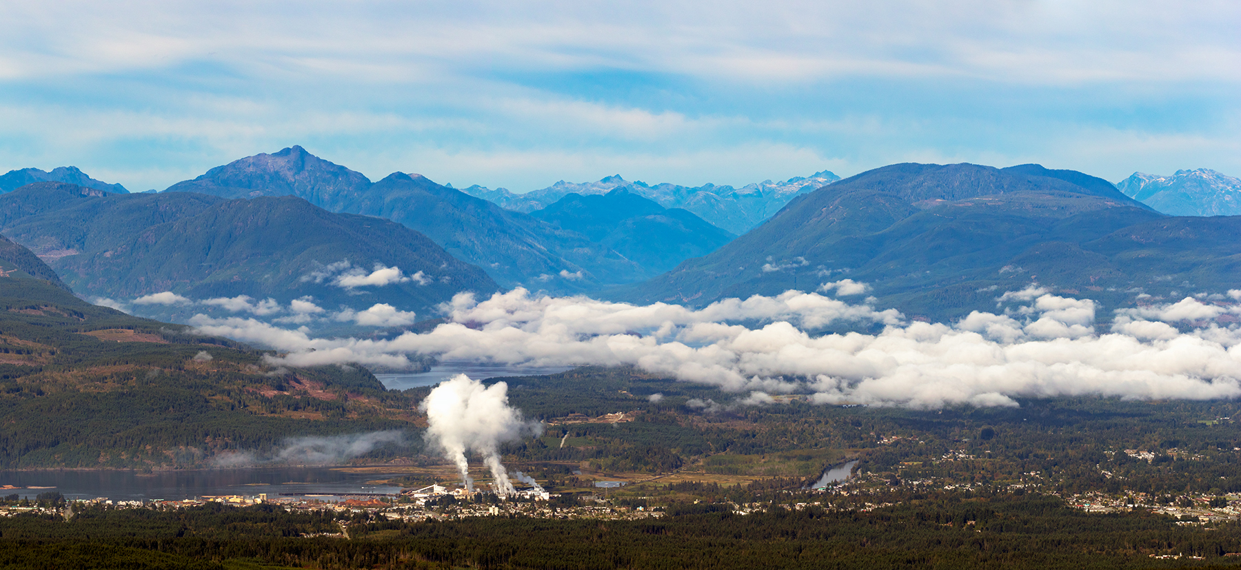 A 7 shot panorama of Port Alberni and the Alberni Valley