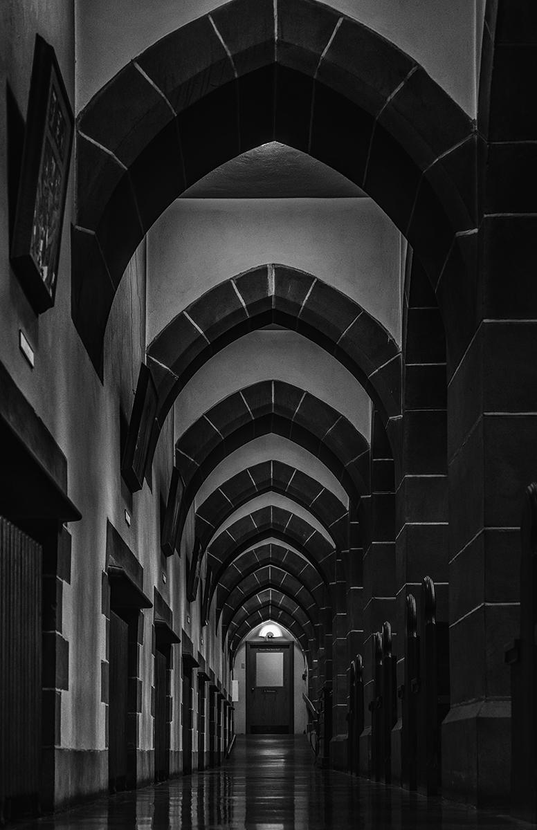 Dark Corridor At Christ Chuch Cathedral